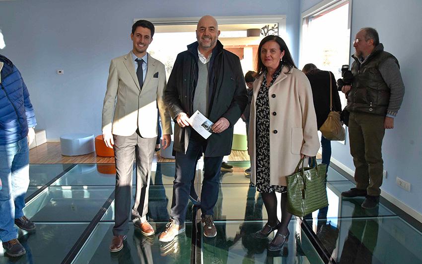 Carlo Bucci e Daniele Friggeri durante l'inaugurazione scuola dell'infanzia Montechiarugolo realizzata da Bucci Spa