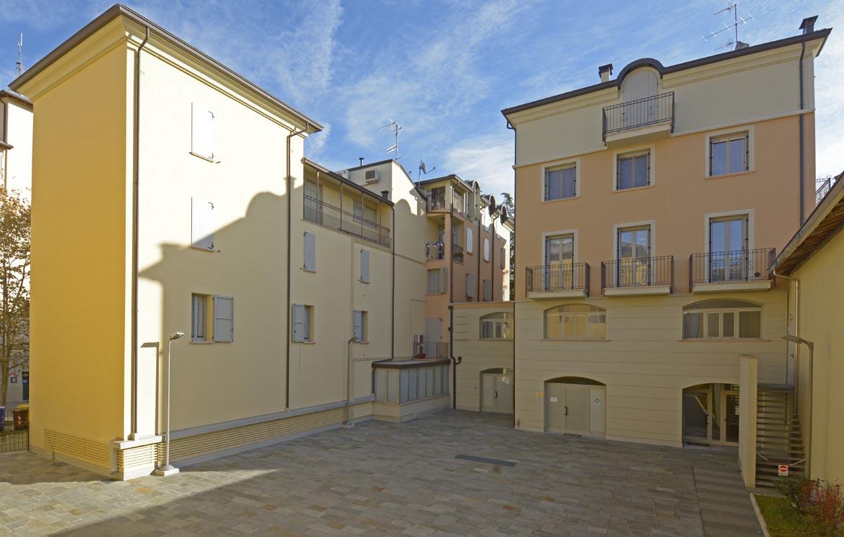 Condominio Borgo Nuovo a Langhirano realizzato da Bucci Spa