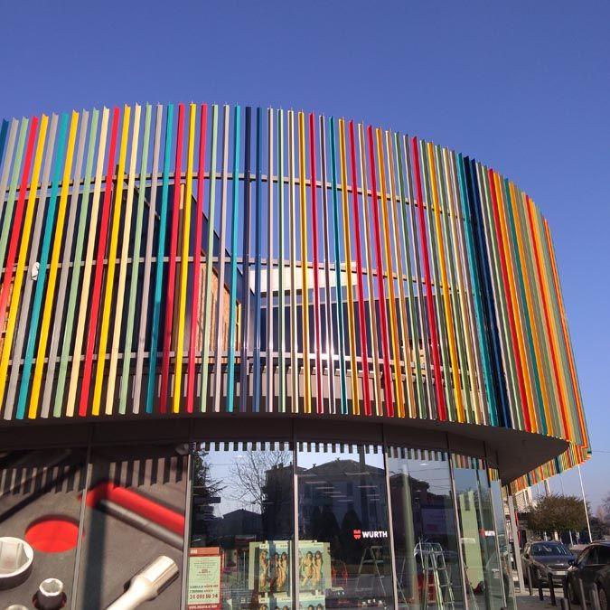 Palazzina commerciale a Parma realizzata da Bucci Spa